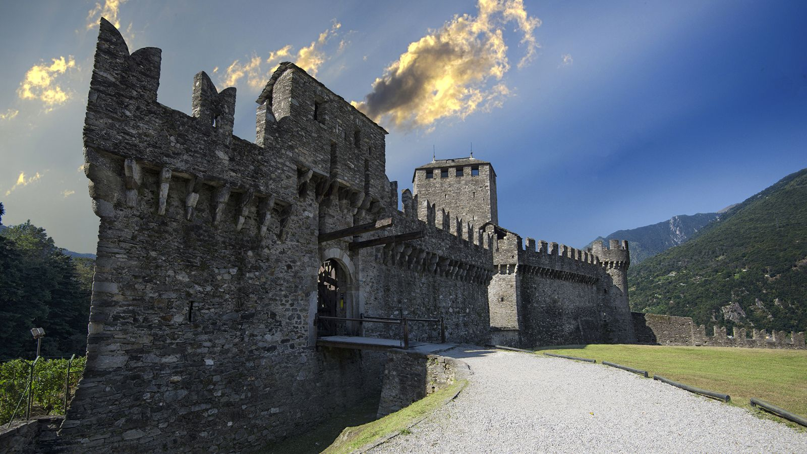 The Castle of Montebello, Bellinzona