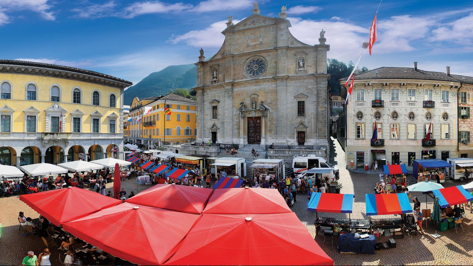 The market of Bellinzona
