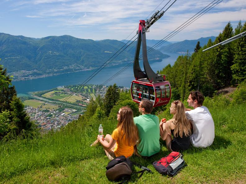 Image 2 - Cable car and chair lift Orselina - Cardada - Cimetta